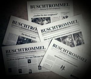 Buschtrommel-Collage